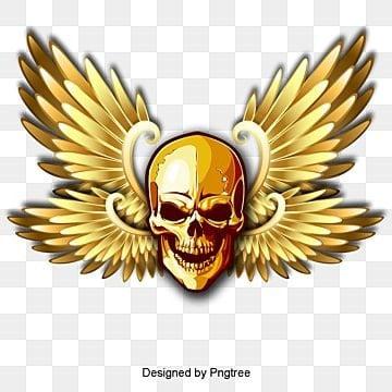 Skull, Skull, Wing, Terror PNG and PSD