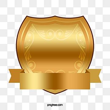 Gold frame vector psd