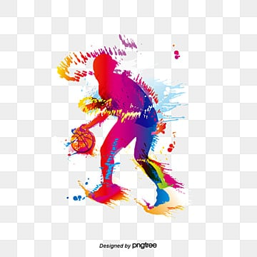 creative basketball players, Basketball Vector, Play Basketball, Dribble PNG and Vector