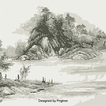 Lavis, Lavis, De L'encre, Peinture ChinoisePNG et vecteur
