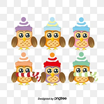 Cartoon cute owl vector material Free Download, Cartoon Cute Owl Vector Material Free Download, All Kinds Of Owls, Christmas Hats PNG and Vector