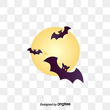 Halloween dia Das bruxas., Material De Vector De Halloween, Lua, MorcegosPNG e Vector