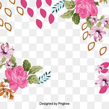 Flower frame vector download