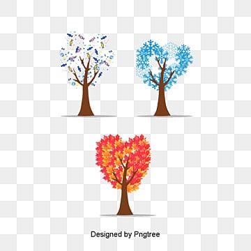 Les quatre saisons des arbres, Les Quatre Saisons, Les Arbres, CouleurPNG et vecteur