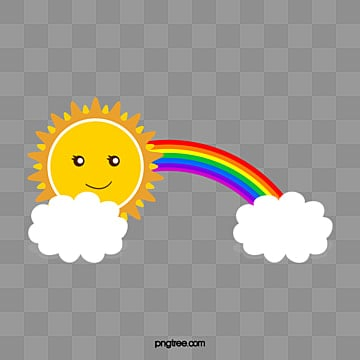 Sun rainbow clouds, Sun, Rainbow, Clouds PNG and Vector