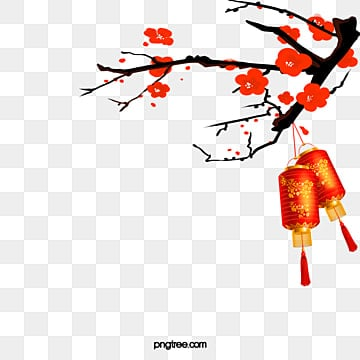 البرقوق الأحمر فانوس نمط الخلفية, السنة الجديدة, السنة الصينية الجديدة, عام الديك PNG و PSD