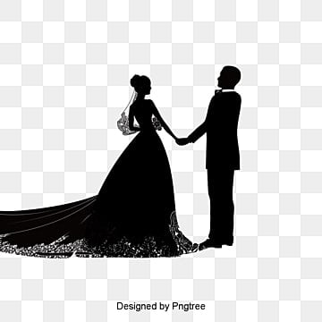 creative wedding silhouette, Bride And Groom, Wedding, Marry PNG and PSD