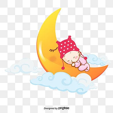 baby, Baby, Sleeping Baby, Moon PNG and Vector