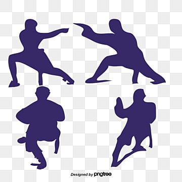 chinese martial arts silhouette illustration image