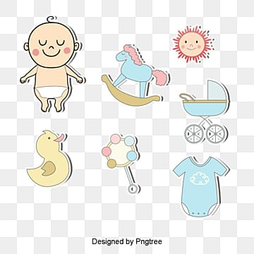 Cartoon baby element tag vector material downloaded,, Cartoon Baby Element Tag Vector Material Download, Baby, Sun PNG and Vector