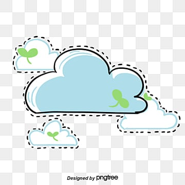 Seedlings clouds border, Vector, Cartoon, Hand Painted PNG and Vector