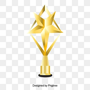 Gold Trophy Trophies Award PNG And Vector