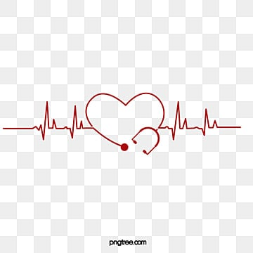 Heart-shaped, heart rate, ECG, medical element, Heart-shaped, Heart Rate, ECG PNG and PSD