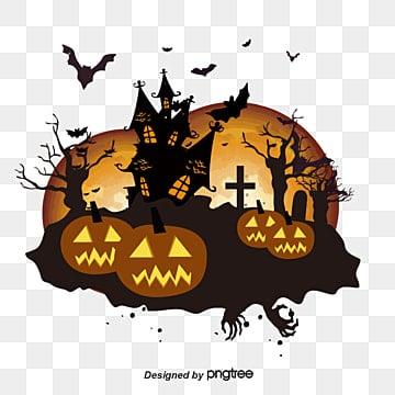 Halloween des éléments de conception, Citrouille D'Halloween HALLOWEEN De Toiles D'araignées De L'arbrePNG et vecteur