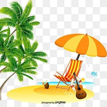 summer  background elements, Coco, Parasol, Chairs PNG and PSD