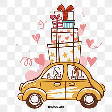 Car carrying gifts