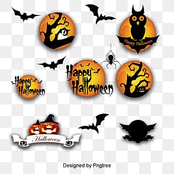 Halloween vector elements, Halloween Vector Elements, Bats, Ghosts PNG and Vector