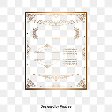 European gold border pattern, European Border Pattern, Gold Frame Pattern, Creative Texture Border PNG and Vector