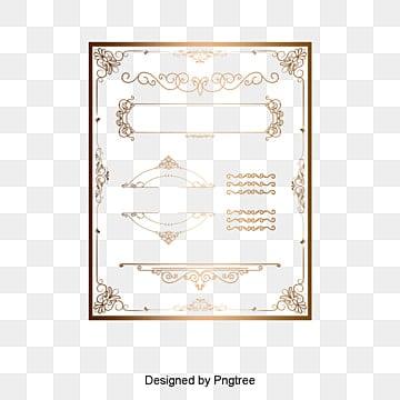Европейский золотой рамы узор, Европейский границы узор, золотой рамы узор, границы текстуры материалPNG и вектор