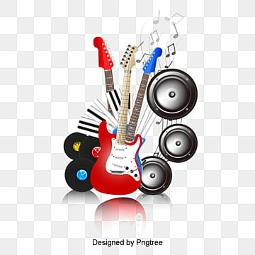 Music poster design, vector de material, Guitarra Elétrica, Sax, AudioPNG e Vector