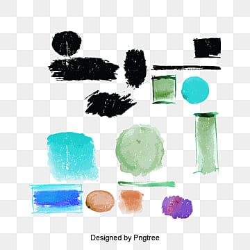 fashion watercolor painting brushes vector material, Smear, Color, Brush PNG and PSD
