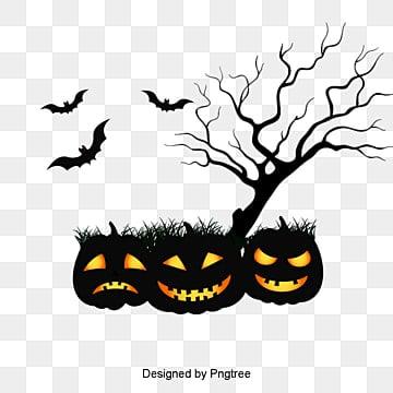 Halloween, Halloween, Pumpkin Head, Bat PNG and PSD