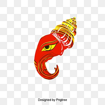 Abstract Ganesha, Elephant Head, Eye, Hat PNG and PSD