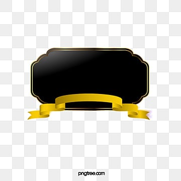 Hand-painted black and gold ribbon border, Hand Painted, Black, Golden PNG and Vector