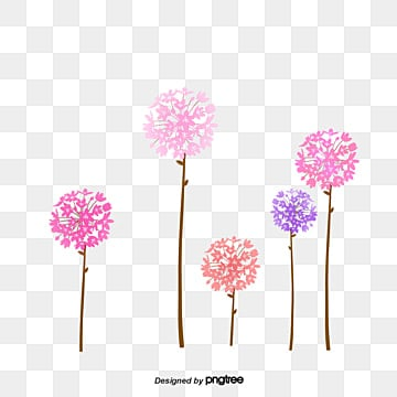 Creative hand-painted flowers, Creative Hand-painted Flowers, Dandelion, Flower PNG and PSD