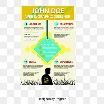Resume template, Resume, Creative Biography, Resume Design PNG and PSD