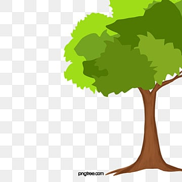 Cartoon Tree Vector PNG And