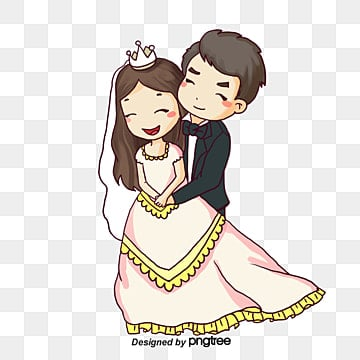 Cartoon Bride And Groom Png Images Vectors And Psd Files Free