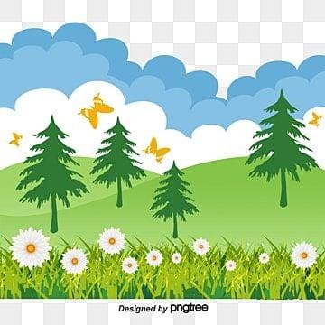El cielo azul y la hierba, El Cielo Azul Y La Hierba, Paisaje, Cielo Azul PNG y Vector