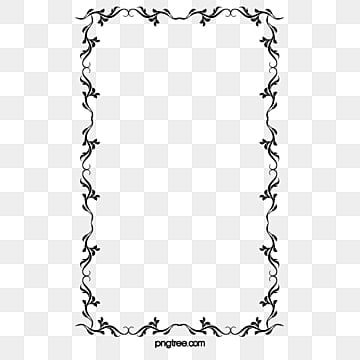 black and white musical notes border black and white note frame png image - Music Note Picture Frame