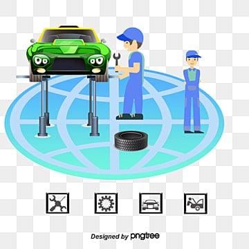تصليح السيارات, تصليح السيارات, صيانة السيارات, موظفي الصيانة PNG و فيكتور