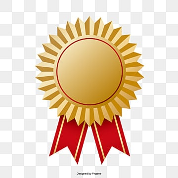 Trophy Badge Label Red Ribbon PNG And Vector