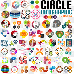 Circle infographic, Creative Circle, Vector Material, Infographic PNG and Vector