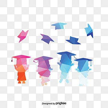 creative graduation, Senior Year, Colored Geometrical People, Dr. Cap PNG and PSD