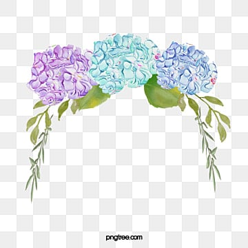 Hand-painted Hydrangea, Hand Painted, Hydrangea, Flowers PNG Image