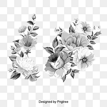 Floral design png vectors psd and clipart for free download pngtree vintage floral design retro flower pattern black and white png and psd mightylinksfo