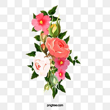 Hand Painted Flowers Bouquet Ilration Png Image And Clipart