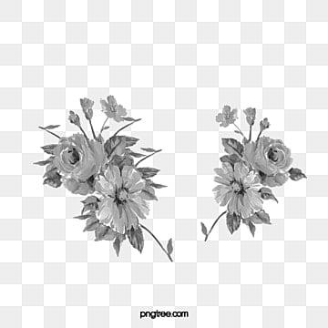 Flores Preto E Branco Png Vetores Psd E Clipart Para