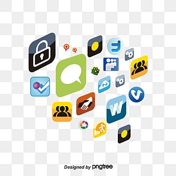 Creative icon collection element, Heart-shaped, Collection Of Icons, Facebook PNG and Vector