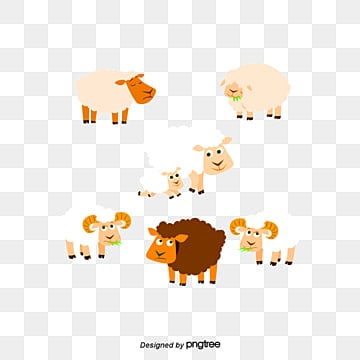 sheep, Sheep, Animal, Cartoon PNG and PSD