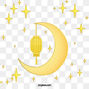 Lantern Moon, Tradition, Lantern, Gold Background PNG and Vector