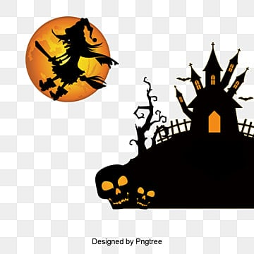 Halloween, Halloween, Wizard, Full Moon PNG and PSD