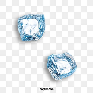 two ice cubes, Ice, Transparent, Blue PNG and Vector