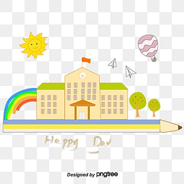 Children's Paradise, A Dream Come True Dream Come True Paradise Children Realize Their Dreams Of Flying Rainbow Dream Creative Pencil Drawing Of Happy Children, Cartoon, Cartoon PNG and Vector