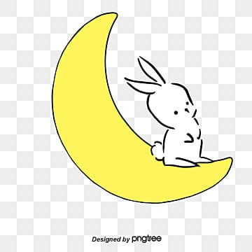 Sleeping on the moon rabbit