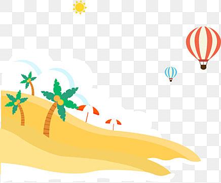 ฤดูร้อนชายหาด  อากาศร้อนบอลลูน  ในช่วงฤดูร้อน รูปภาพ PNG และคลิปอาร์ท